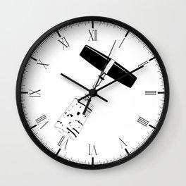 Corkscrew and Cork Drawing Wall Clock