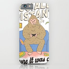 social distancing before it was cool gamer iPhone Case