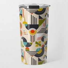 Bauhaus style birds Travel Mug