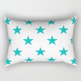 Stars (Eggshell Blue/White) Rectangular Pillow