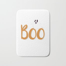 Boo with Ghost Spooky Halloween Trick Or Treat Bath Mat