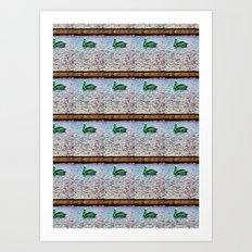 Pelican Pattern (c) Art Print
