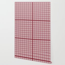 Burgundy Red Greek Key Pattern Wallpaper