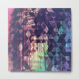 Tessellated Rainbow Metal Print