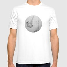 Descending Jellies White Mens Fitted Tee MEDIUM