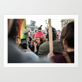 Trump Campaign Protests Art Print