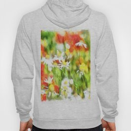The Colors Of Spring On A Sunny Day Watercolor Hoody