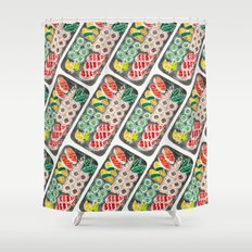 Sushi Collection – Black Platter Shower Curtain