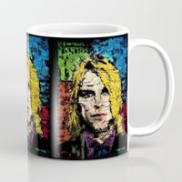 kurt rahn Mugs featuring Nevermind Kurt  by brett66