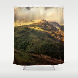 Postcards from Scotland Shower Curtain