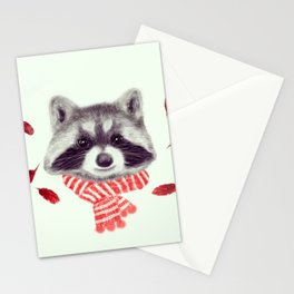 Indi raccoon Stationery Cards