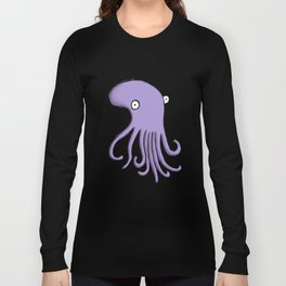 Purple Octopus Long Sleeve T-shirt