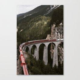 Landwasser Viaduct Canvas Print