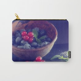 Dark blue berries contrasting with bright red berries Carry-All Pouch