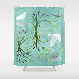 little egrets Shower Curtain