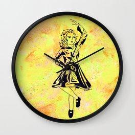 Imbolc  (traditional Irish step dancer celebrating Brigid and the festival of light) Wall Clock