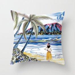 Hawaiian Holiday Throw Pillow