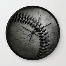 Black and white Baseball Wall Clock