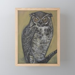 Great Horned Owl Framed Mini Art Print