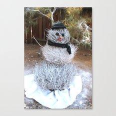 Winter Tumble Man Canvas Print
