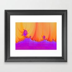 Alien Landscape in pink and Orange Framed Art Print
