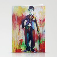 chaplin Stationery Cards featuring Charlie Chaplin by Marta Zawadzka