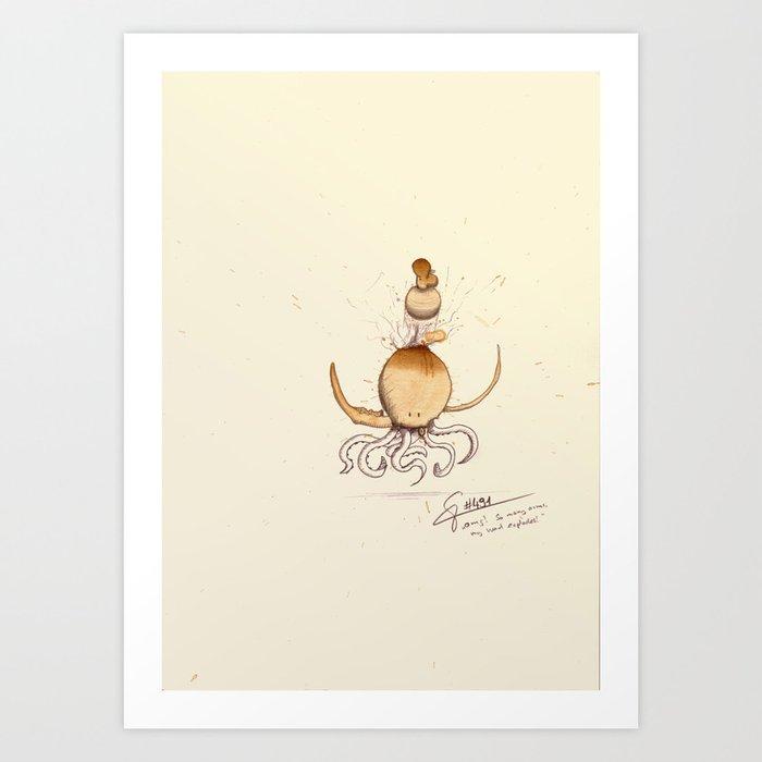 #coffeemonsters 491 Art Print