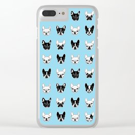Cute Frenchies Doggie Family Collage Clear iPhone Case