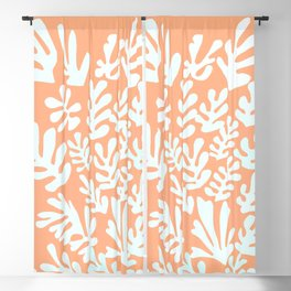 """Collage of Leaves, #12,""""Aflame"""" by Henri Matisse Blackout Curtain"""