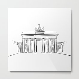 Brandeburg Gate in Berlin Metal Print