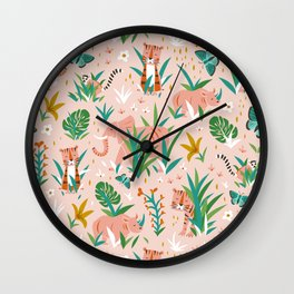 Endangered Wilderness - Blush Pink Wall Clock