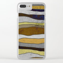 Nordic Layers - Abstract, Textured Art Clear iPhone Case