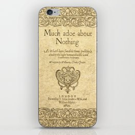 Shakespeare. Much adoe about nothing, 1600 iPhone Skin