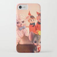 pixies iPhone & iPod Cases featuring Pixies gathers with lamb and mouse by Vintage  Cuteness