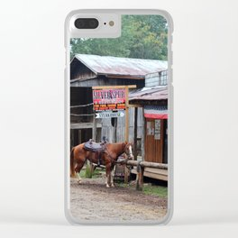 One Horse Town Clear iPhone Case