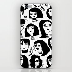 GIRLS AND ONE CAT iPhone & iPod Skin