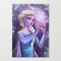 elsa Canvas Prints featuring Elsa by Red Red Telephone