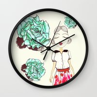 boba Wall Clocks featuring Boba by causemepain