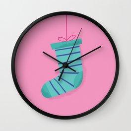 Christmas Sock - Chaussette de Noël Wall Clock