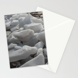 Ice melts on the ground under the warm morning sun Stationery Cards