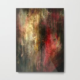 Fall Abstract Acrylic Textured Painting Metal Print