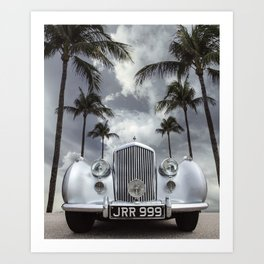 Vintage Car Photography | Palm Trees | California Vibes Art Print