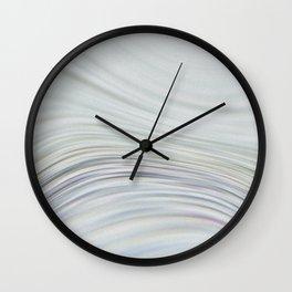 Glass and Bone Wall Clock