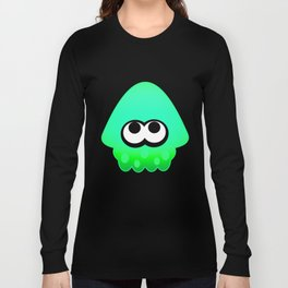 Splatoon Squid Pattern Green Long Sleeve T-shirt