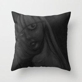 Girl Bathing (inblackandwhite) Throw Pillow