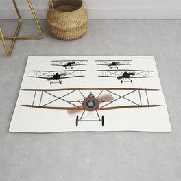 Biplane Squadron Rug