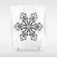 snow Shower Curtains featuring Snow by ArtSchool