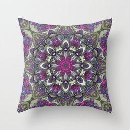 Mandala Geometric Flower G415 Throw Pillow