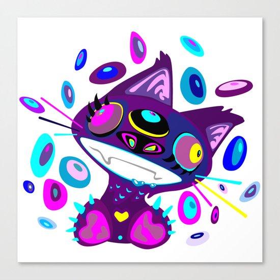 Psychocat Canvas Print