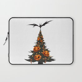 Halloween Christmas Tree - White Laptop Sleeve